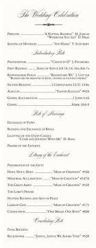 wedding bulletins exles wedding programs wedding ceremony programs wedding program ideas