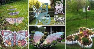 truly cool and low budget garden decorations inspired by butterfly