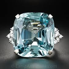 aquamarine and diamond ring 38 carat aquamarine and diamond ring