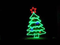 105cm neon led christmas tree ropelight display youtube