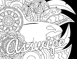 14 free coloring pages swear word themed u2014 swear stress away