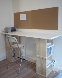 Stand Up Desk Ikea Hack by Rast Bedside Tables Into Standing Desk With Storage Trays Ikea