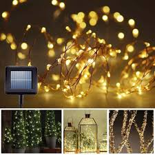 Solar White Christmas Lights by Amazon Com Solar String Lights Gotideal 100 Leds Outdoor
