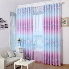 Pink And Purple Curtains Room Darkening Bedroom Curtains In Purple And Blue Color With