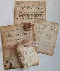 handmade wedding invitations 6 vintage shabby chic handmade