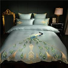King Size Duvet Bedding Sets Embroidery Luxury Bedding Set King Size Duvet Cover