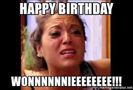 Jersey Shore Meme - happy birthday wonnnnnnieeeeeeee sammi jersey shore crying