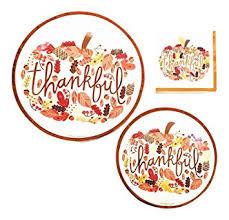 thankful thanksgiving dinnerware bundle 3 items
