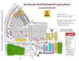 San Francisco County Map by Petaluma California Campground San Francisco North Petaluma Koa