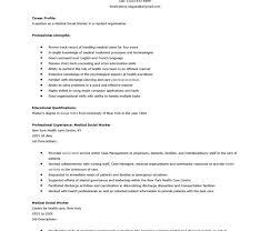 medical social worker resume create my resume social work cover