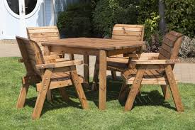 wooden patio table and chairs uk made fully assembled heavy duty wooden patio garden dining set