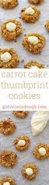 carrot cake thumbprint cookies versus dough