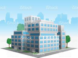 immeuble de bureaux vecteur stylisé modifiée générique moderne immeuble de bureaux d