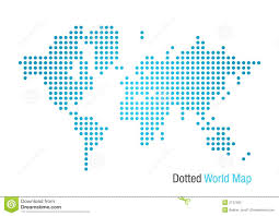 world map stock image dotted world map stock vector illustration of africa 2747360