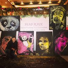 home brad blaze speed painter performance artist