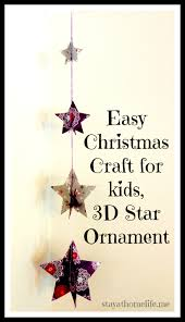 easy kids craft u2013 hanging christmas decoration stay at home life