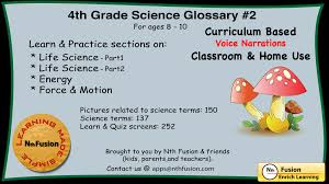 4th grade science glossary 2 learn and practice worksheets for