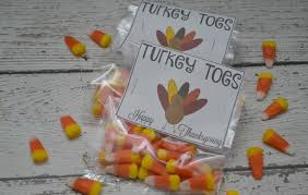 turkey toes treat bags free printable building our story