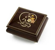 jewelry box photo frame delightful warm wood tone musical jewelry box with floral and