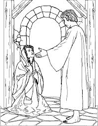 angel appears to mary and joseph coloring pages bulk color