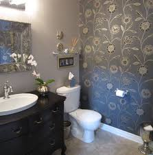 Guest Bathroom Design by Classic Guest Bathroom Design Idea With Antique Vanity And Flower