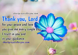 thank you lord for your peace and christian prayer