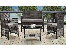 madrid 4 piece rattan weatherproof garden patio furniture
