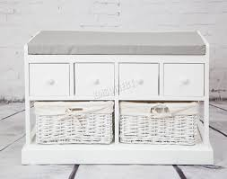 Storage Bench With Baskets Countertops White Storage Bench Seat Black With Wicker Baskets