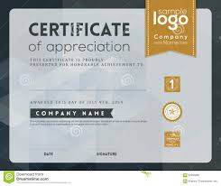 modern certificate frame design template stock vector image