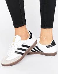 white samba adidas adidas originals white and black samba og trainers