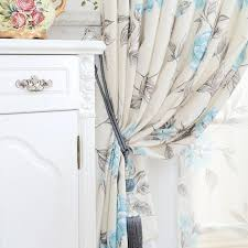 Floral Curtains Blue Floral Curtains Teawing Co