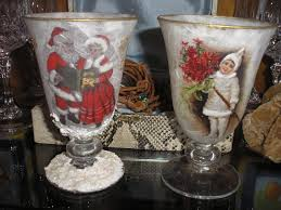decoupage christmas candle holders stella decoupage christmas