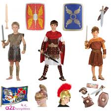 boys roman armour shield sword helmet centurion soldier kids fancy