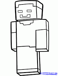 minecraft herobrine coloring pages getcoloringpages com