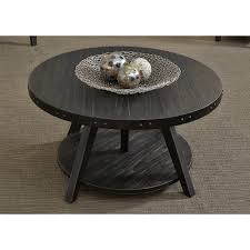 Motion Coffee Table - liberty furniture aspen skies industrial casual adjustable round