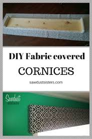 Fabric Covered Wood Valance Diy Fabric Covered Cornice Sawdust Sisters