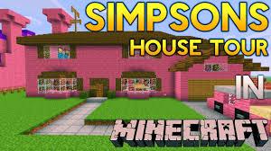 simpsons house floor plan house plan minecraft simpsons house tour youtube the simpsons house