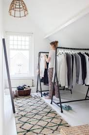Hanging Clothes Rack From Ceiling Best 25 Makeshift Closet Ideas On Pinterest Clothes Racks