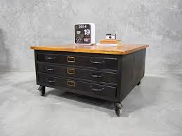 Map Drawers Cabinet Map Drawers Coffee Table Furniture With Castor Wheels Iron Table