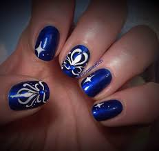electric blue nail art design youtube