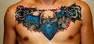 cool chest cover up with gangsta skull tattooshunter com