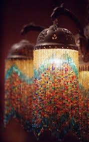 Beaded Home Decor Beaded Home Decor Projects This Hanging Chandelier Offers A Soft