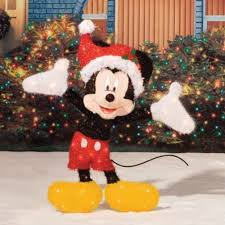 Outdoor Christmas Decorations Yard Art by Lighted Mickey Mouse Sculpture Outdoor Christmas Yard Decor