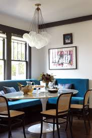 dining room ideas try a banquette in place of chairs for more