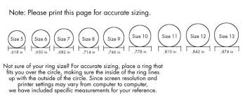 womens ring size engagement wedding ring size chart