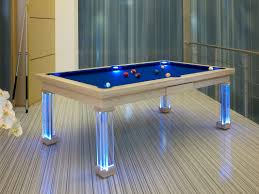stained dining room pool tables by generation chic pool