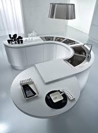 kitchen contemporary curved kitchen countertop design with white