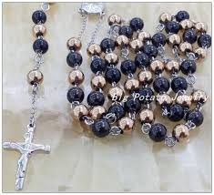 rosaries for sale new hot sale 316l stainless steel black gold rosary chain