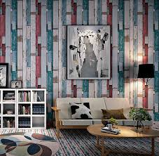 Wallpaper Barn Aliexpress Com Buy Coloured Vintage Weathered Wood Look Grain