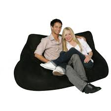 bean bag factory 2 seat black bean bag chair cover